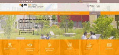 ICN Business School : Nouveau logo et nouveau site internet
