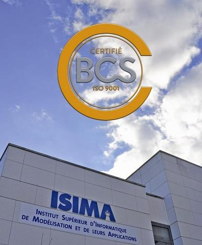 L'ISIMA, école d'ingénieurs en informatique, est depuis cette semaine certifiée ISO 9001.
