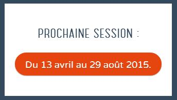 Inscription à la Coding Academy -  Session du 13 avril au 29 août 2015