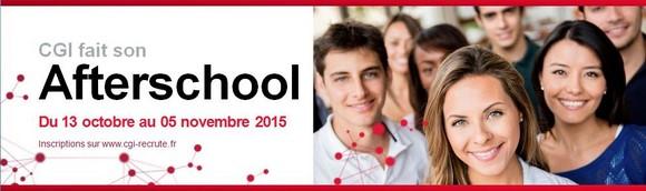 CGI recrute 700 stagiaires partout en France - Afterschools du 13 octobre au 5 novembre 2015
