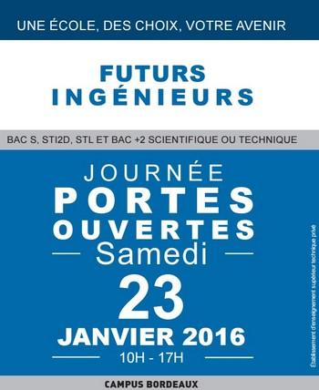 L'ei.CESI Bordeaux vous ouvre ses portes samedi 23 janvier 2016 de 10h à 17h