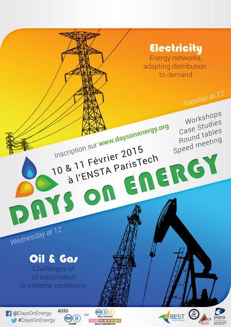 Days on Energy les 10 et 11 février 2015 : venez découvrir les domaines de l'Électrique et de l'Oil & Gas !