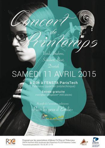 Les associations étudiantes de l'ENSTA ParisTech organisent le concert du printemps le 11 avril 2015