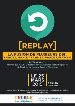 """""""Replay"""" sur la fusion des directions des systèmes d'information  de France Télévisions"""