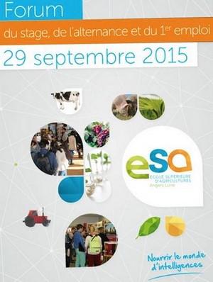 7ème Forum du stage, de l'alternance et du premier emploi de l'ESA - Mardi 29 septembre 2015