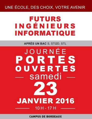 L'exia.CESI Bordeaux vous ouvre ses portes samedi 23 janvier 2016 de 10h à 17h