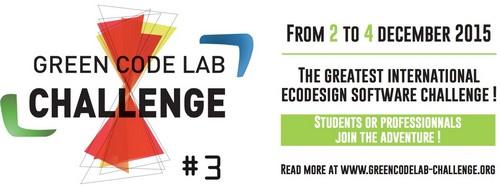 3ème édition du Green Code Lab Challenge du 2 au 4 décembre 2015
