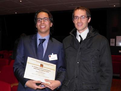 Youssef BALMA de Télécom SudParis, Taylor MORDAN de l'ENSTA ParisTech est lauréat ex-aequo du Trophéé Ile-de-France André Blanc-Lapierre