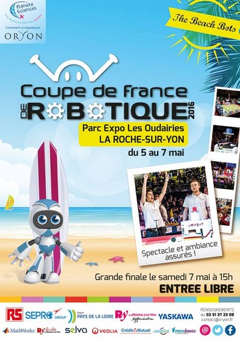 Coupe de france de robotique 2016 du 5 au 7 mai la roche sur yon - Coupe de france robotique ...