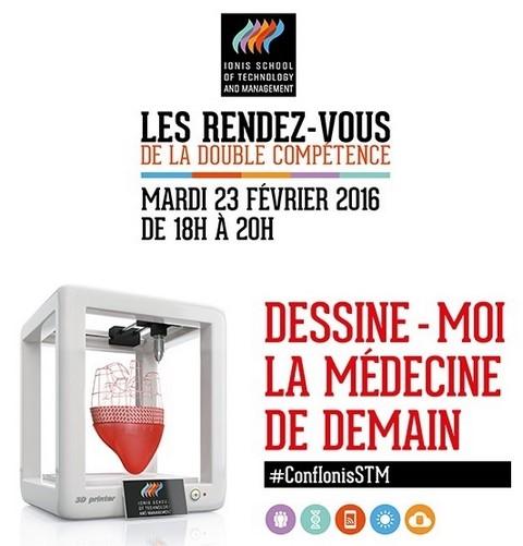 Dessine moi la médecine de demain : Conférence présentée par Ionis-STM mardi 23 février 2016