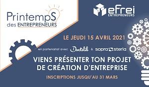 12ème édition du Printemps des Entrepreneurs Efrei Paris