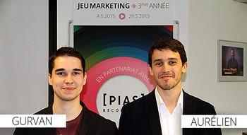 Gurvan et Aurelien vainqueurs Jeu marketing Iscom 2015