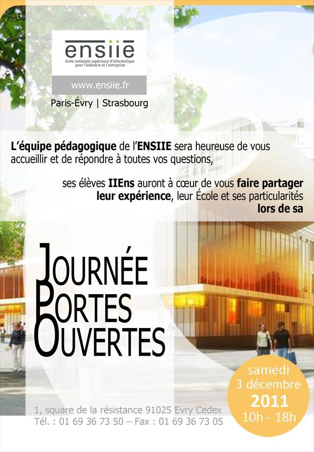 Journées Portes Ouvertes de l'ENSIIE Samedi 3 Décembre 2011