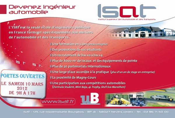 L???Institut Supérieur de l???Automobile et des Transports ouvrira ses portes le samedi 10 mars 2012