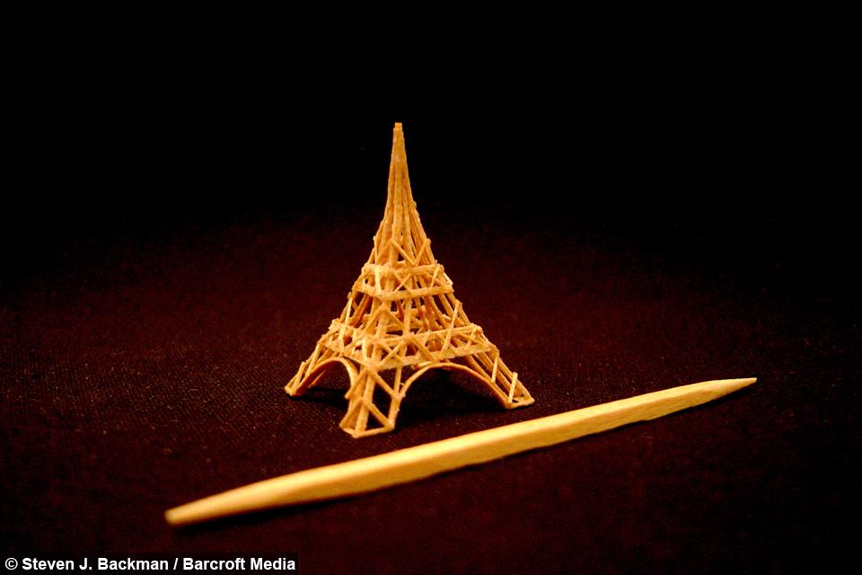 Toothpick Sculpture tiny empire: toothpick sculpture is world's smallest