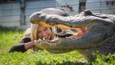Businesswoman Ditches Career For Giant Gators