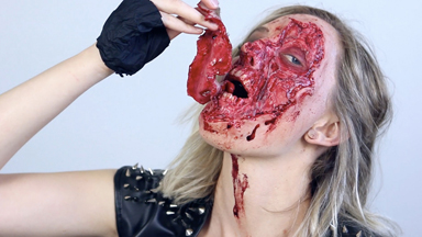 Beauty and beast: Make up Artist transforms herself into gruesome creatures