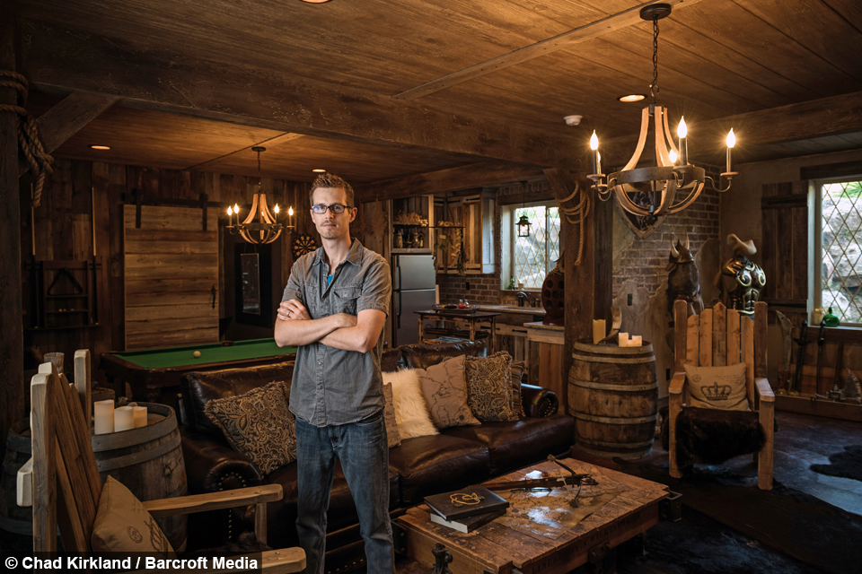 Real Man Cave Ideas : Superfan spends on elder scrolls video game