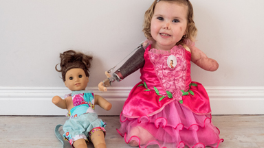 Brave Toddler Keeps Smiling Despite Losing Limbs