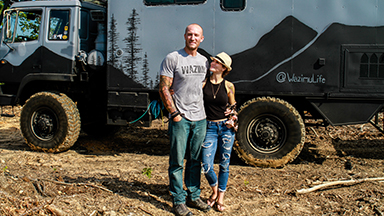 Couple Transform Military Truck Into Dream Mobile Home