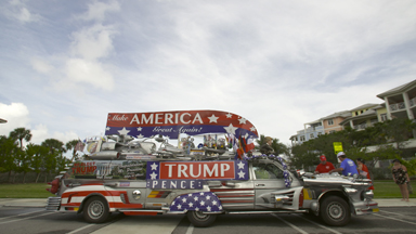 Donald Devotees Build Outrageous Trump Mobile