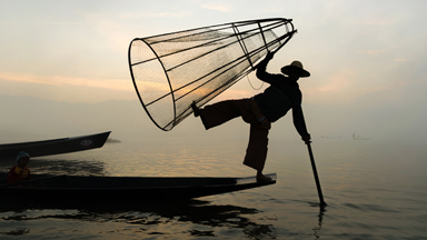 Balancing Act: The fishermen of Myanmar who paddle with one leg