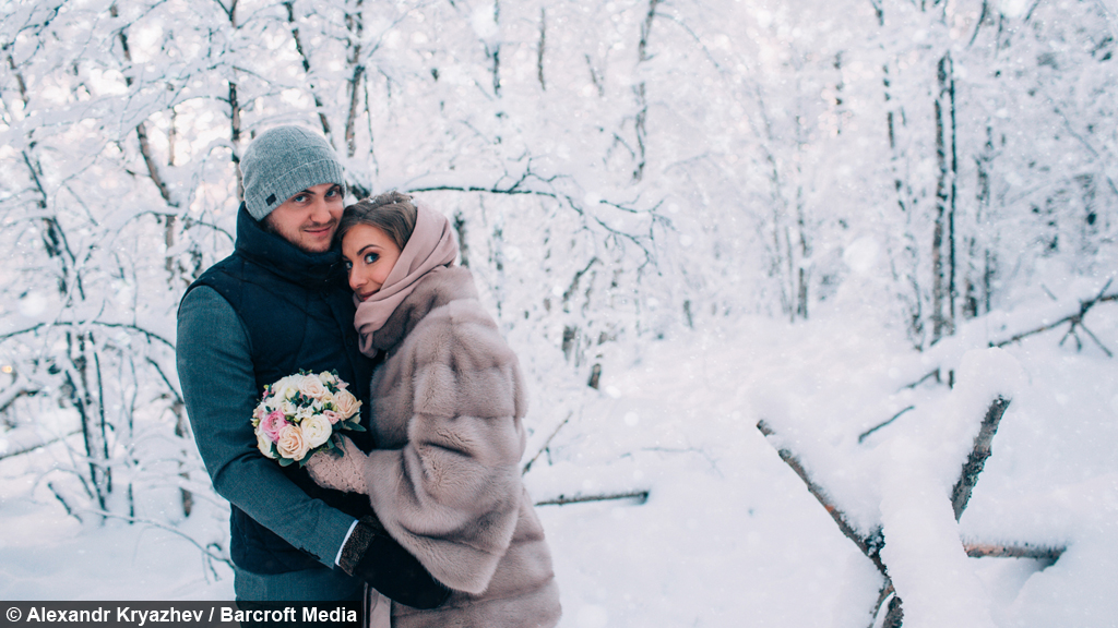 Ultimate winter wedding russian couple say i do in 17f weather