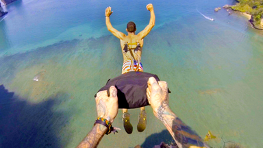 Parachute Hooked To The Skin: Welcome To Suspension BASE Jumping