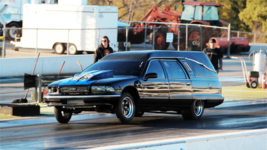 Overtaken By The Undertaker - The World's Fastest Hearse