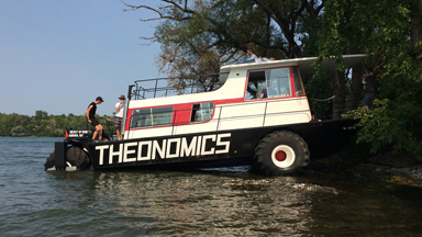 Amphibious Houseboat Hits The Road