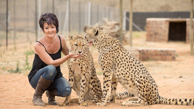 Petite Woman Is Best Friends With Big Cats