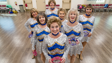 The Pensioner Cheerleaders High Kicking Into Retirement