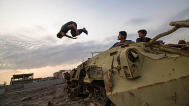 Fearless freerunners: Yemen parkour team mend relationships across war torn communities