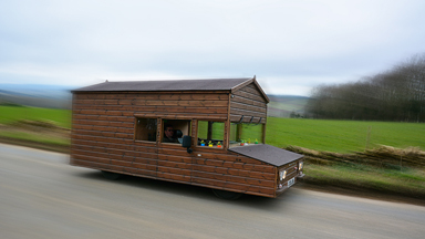 Gardener builds world's fastest shed with a top speed of 88mph