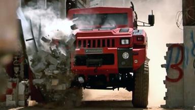 'Indestructible' Car Survives Bombs and Drives Through Walls