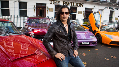FLASHING THE CASH: BRITISH MILLIONAIRE PLAYBOY DANNY LAMBO