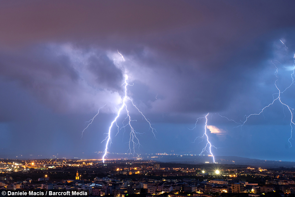 Message From Above Stunning Lightning Storm Above Sardinia