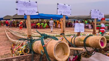 Laos villagers hope for rain during vibrant rocket festival