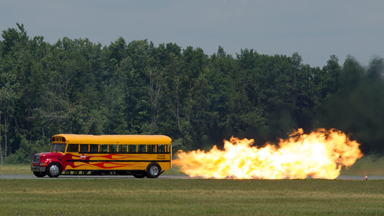 WORLD'S FASTEST SCHOOL BUS HITS SPEEDS OF 367MPH