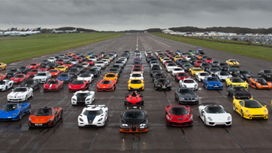 Secret Supercar Meet: £20m Of Supercars Brave The Rain
