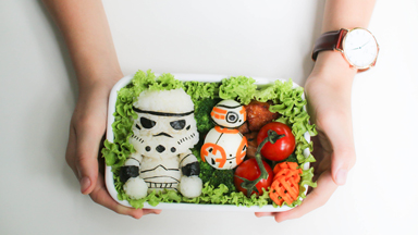 Creative full-time Mum makes school lunches fun with cartoon inspired packed lunches