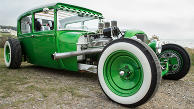Green Machine: Grandfather Converts 1929 Ford Into Hot Rod