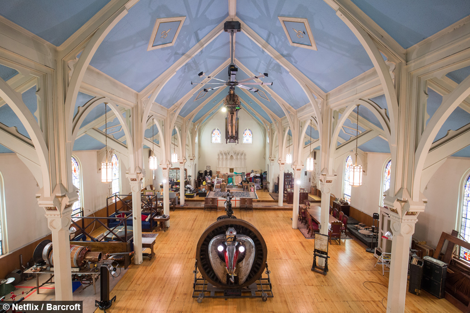 Interior View Of An Old Church Which Is Now A Steampunk Themed House In  Palmer, Massachusetts