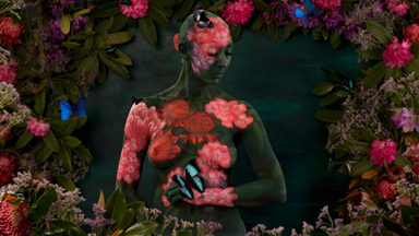 Blooming fantastic: Artist creates amazing body painted artworks