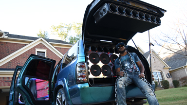 Deafening Bass-Mobile Boasts 62 Speakers
