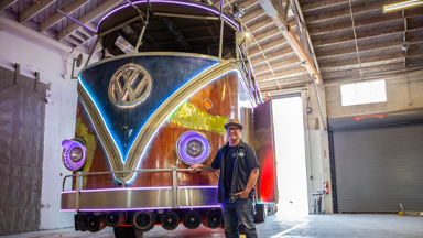 The Giant 13Ft High VW Party Bus