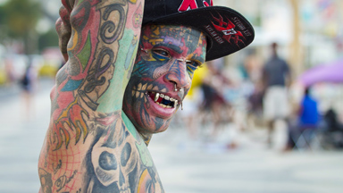 Dad With 1,000 Tattoos Inks own Eyeballs