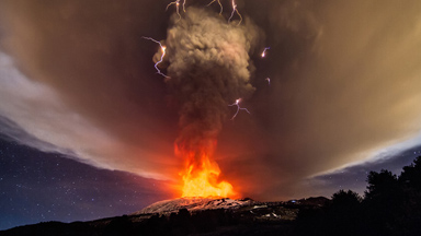 Heaven and Hell: Mount Etna Erupts