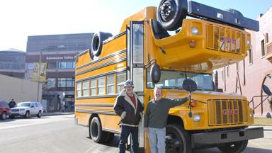 Topsy Turvy Bus: Upside Down Vehicle Leaves Road Users Confused