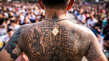 Tattoo Turmoil: Buddhist rejuvenate the magical protection of tattoos at feverish festival